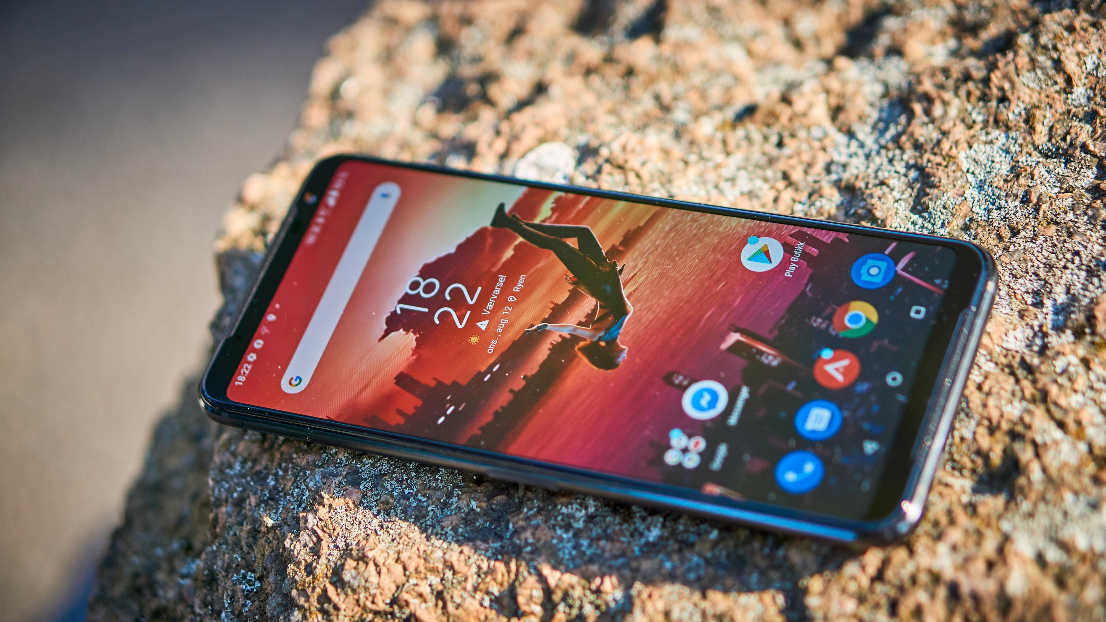 Skjermen på ROG Phone 3 er både lyssterk, rask og presis.