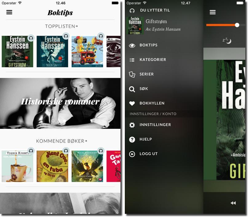 Storytel har et fint og behagelig design, samtidig som nedlasting og avspilling av bøker går som en lek.