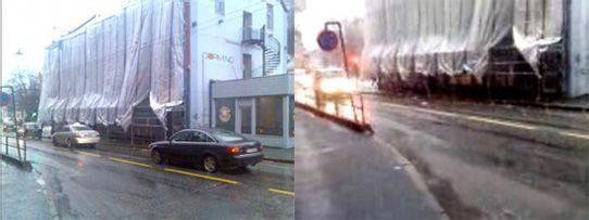 Bildet til venstre har høy oppløsning, mens bildet til høyre er lavoppløst.