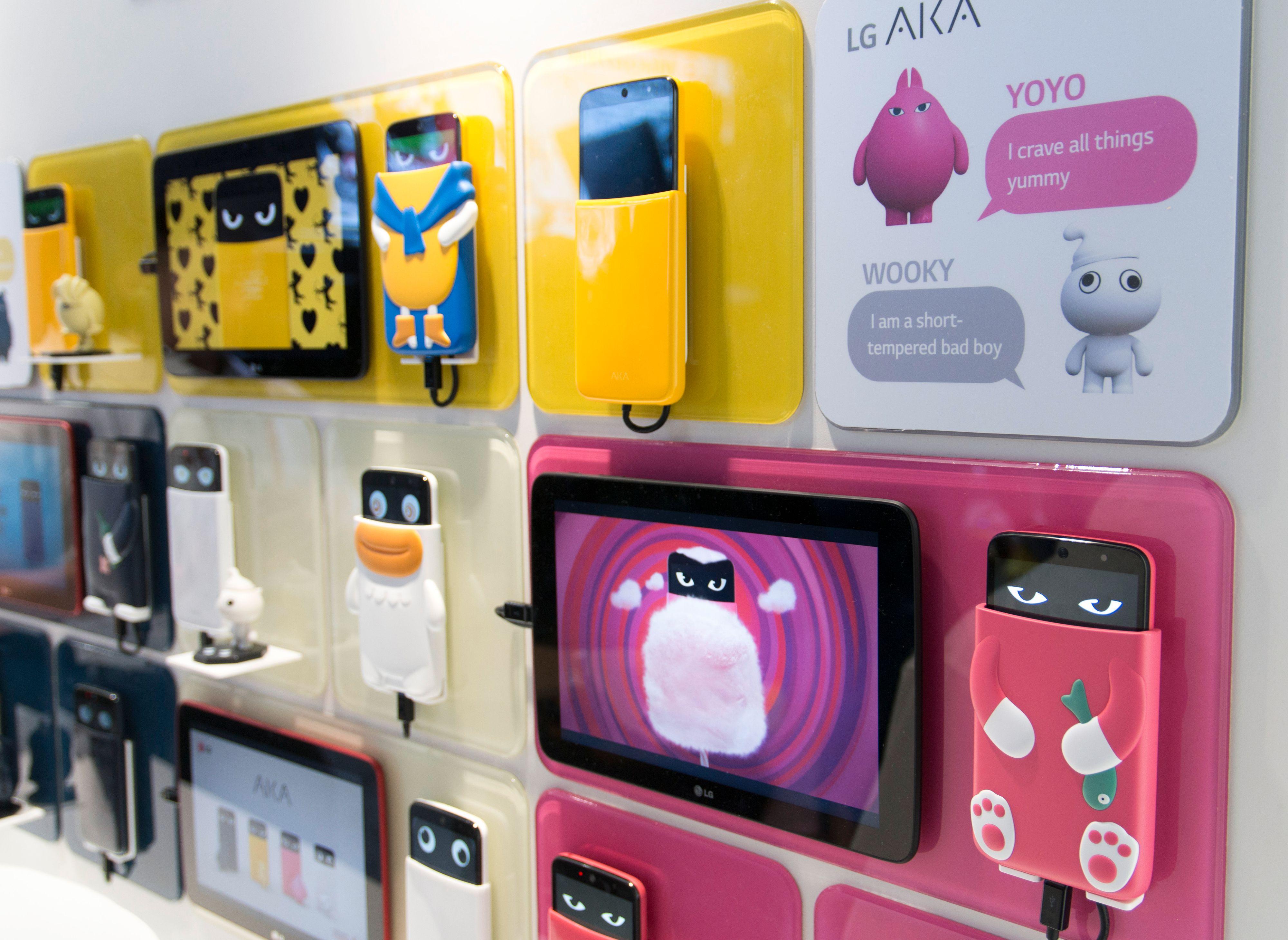 Hva med en telefon som er en hund etter søtsaker? Eller kanskje en som er litt mer sinna? Det kan du kjøpe hvis du bor i Sør-Korea.Foto: Finn Jarle Kvalheim, Tek.no