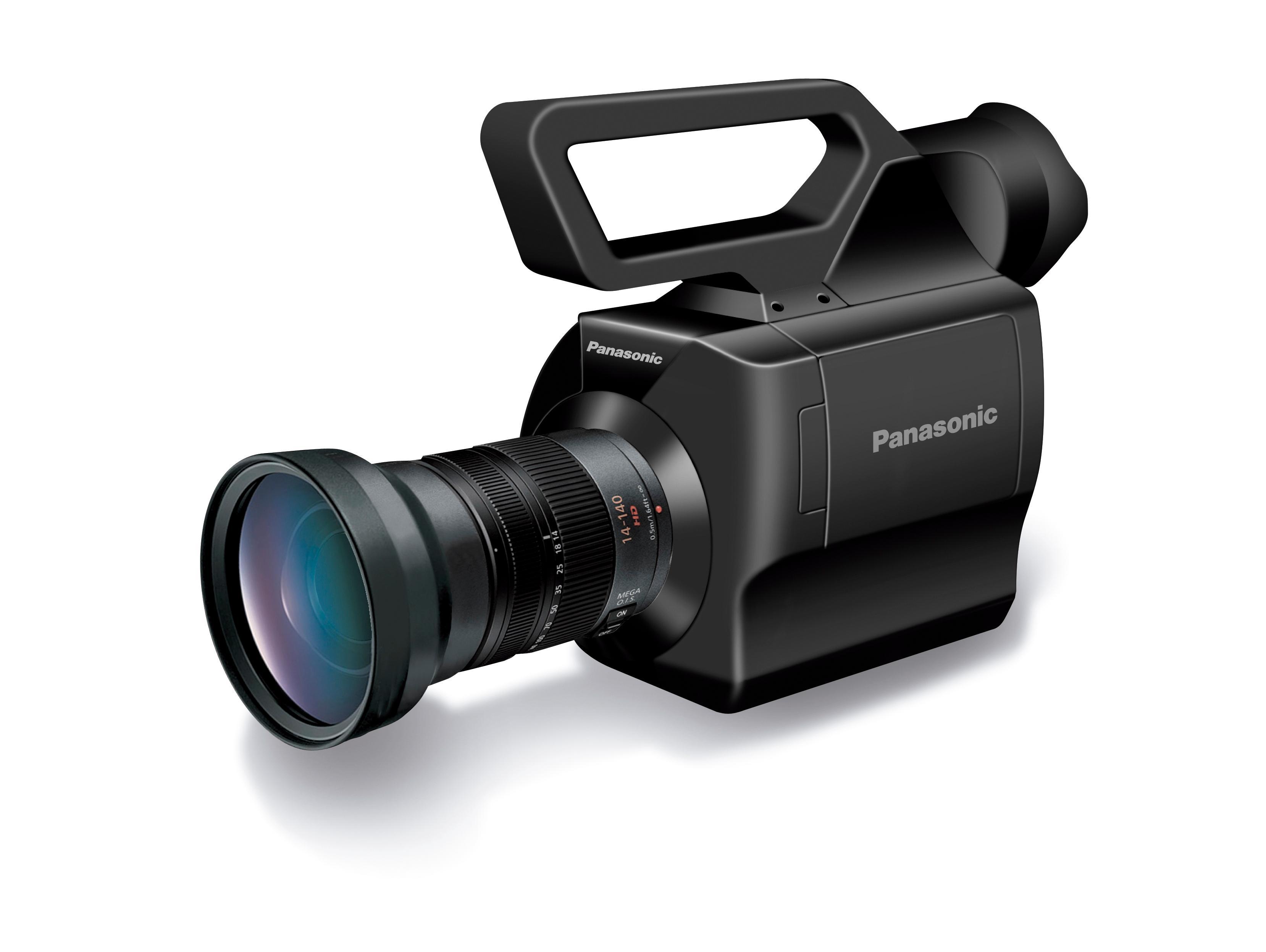 Lite og kompakt: Panasonic AG-AF100 kan være et viktig første skritt i rettning av små profesjonelle videokameraer med god kvalitet. FOTO: Panasonic