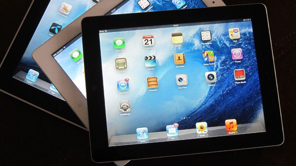 Oppdaterer Apple iPad om en uke?