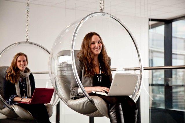 Microsoft tenkehetter. Hit går medarbeiderne for å reflektere og vekke kreativiteten.