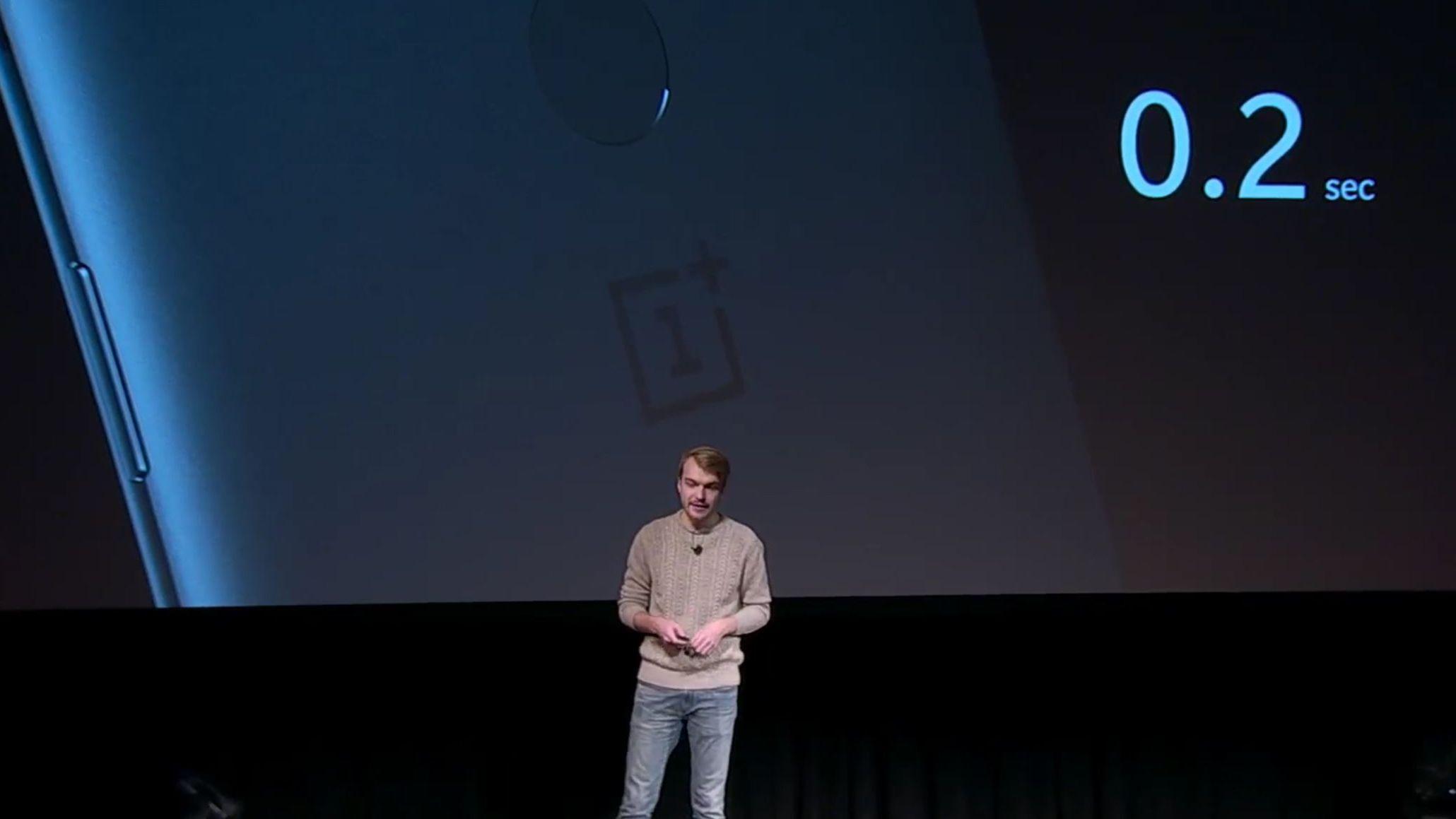 OnePlus 5T har fingerleser på baksiden, og en ansiktslås via frontkameraet. Sistnevnte er ikke god nok til å gi full sikkerhet, så den kan åpne låseskjermen, men ikke ta seg av betalinger og annen sensitiv informasjon. Bilde: Skjermdump, OnePlus