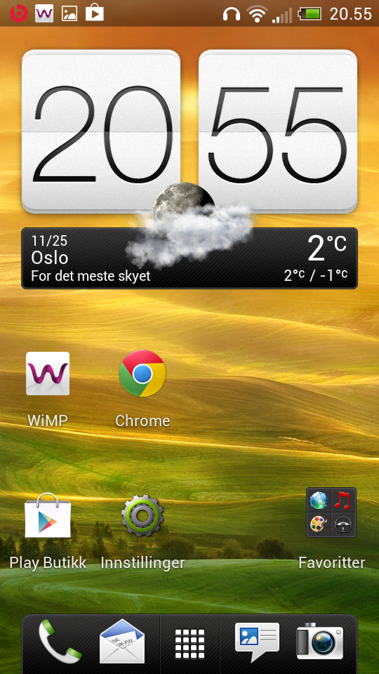Slik kan en HTC-telefon se ut orginalt.