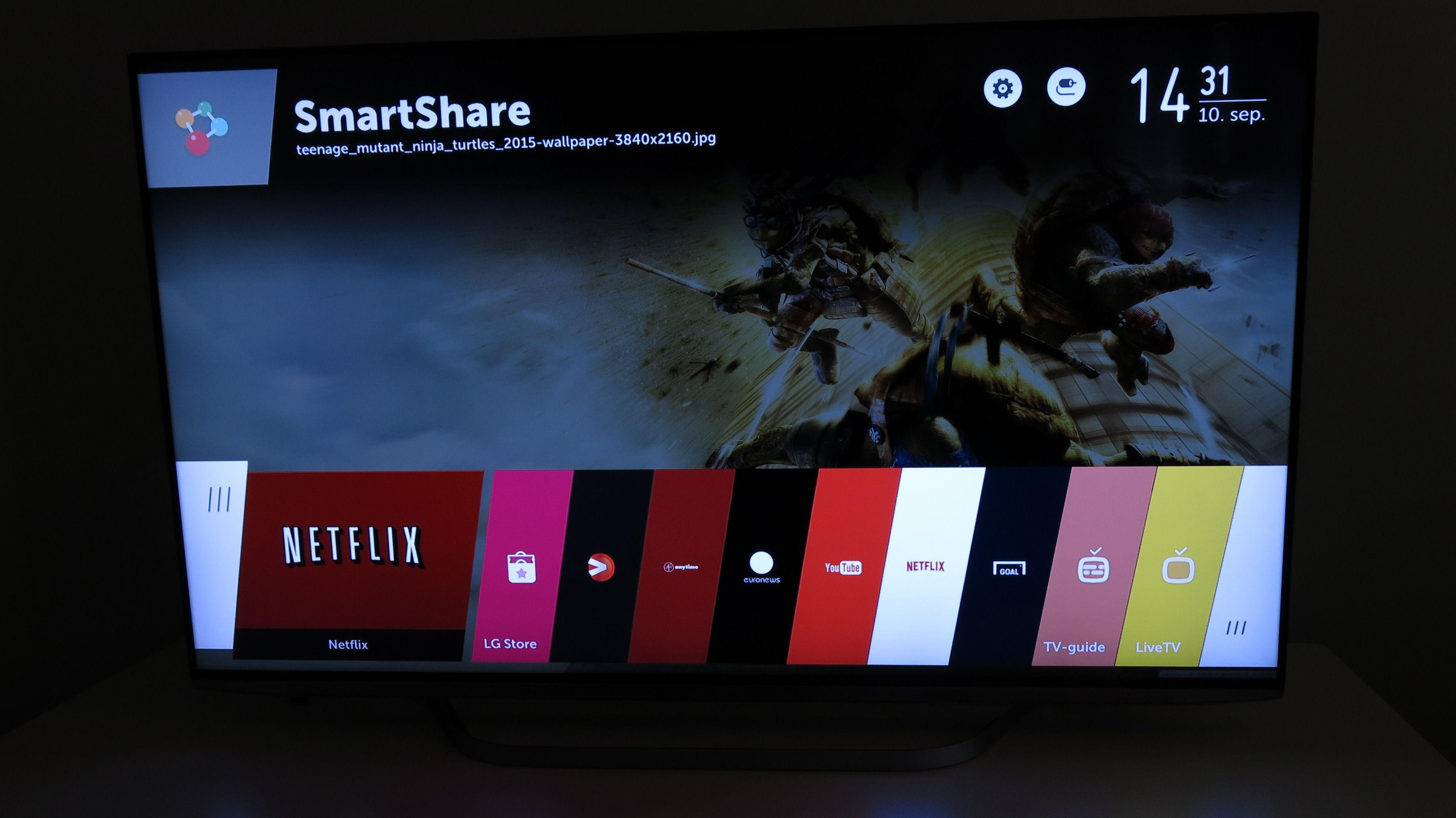 WebOS er blant de beste brukergrensesnittene til TV etter vår mening. .Foto: Ole Henrik Johansen / Hardware.no