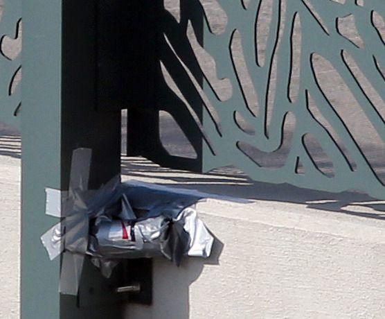 Slik så kameraet ut før det ble sprengt i filler. Foto: WSB-TV