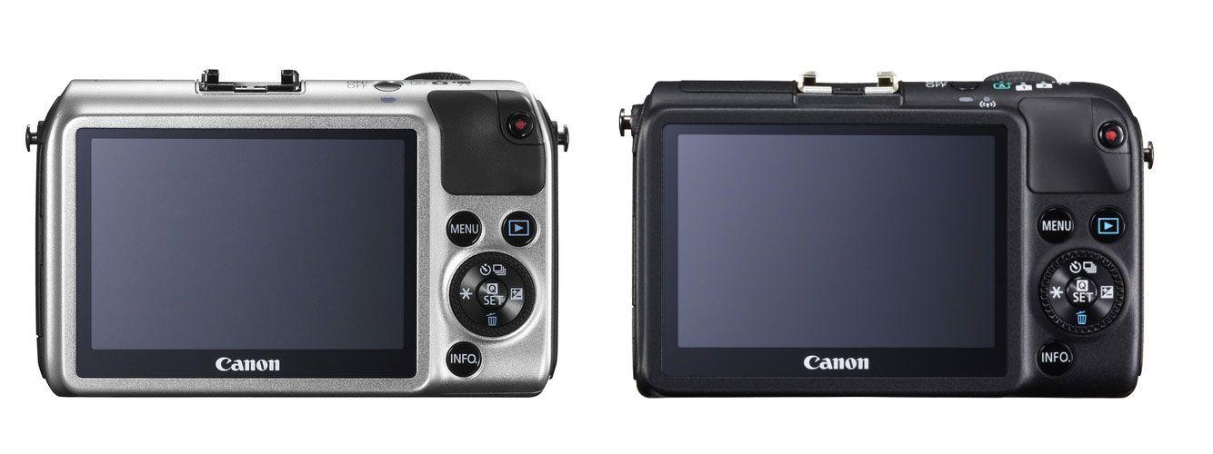 EOS M til venstre, EOS M2 til høyre.Foto: Canon