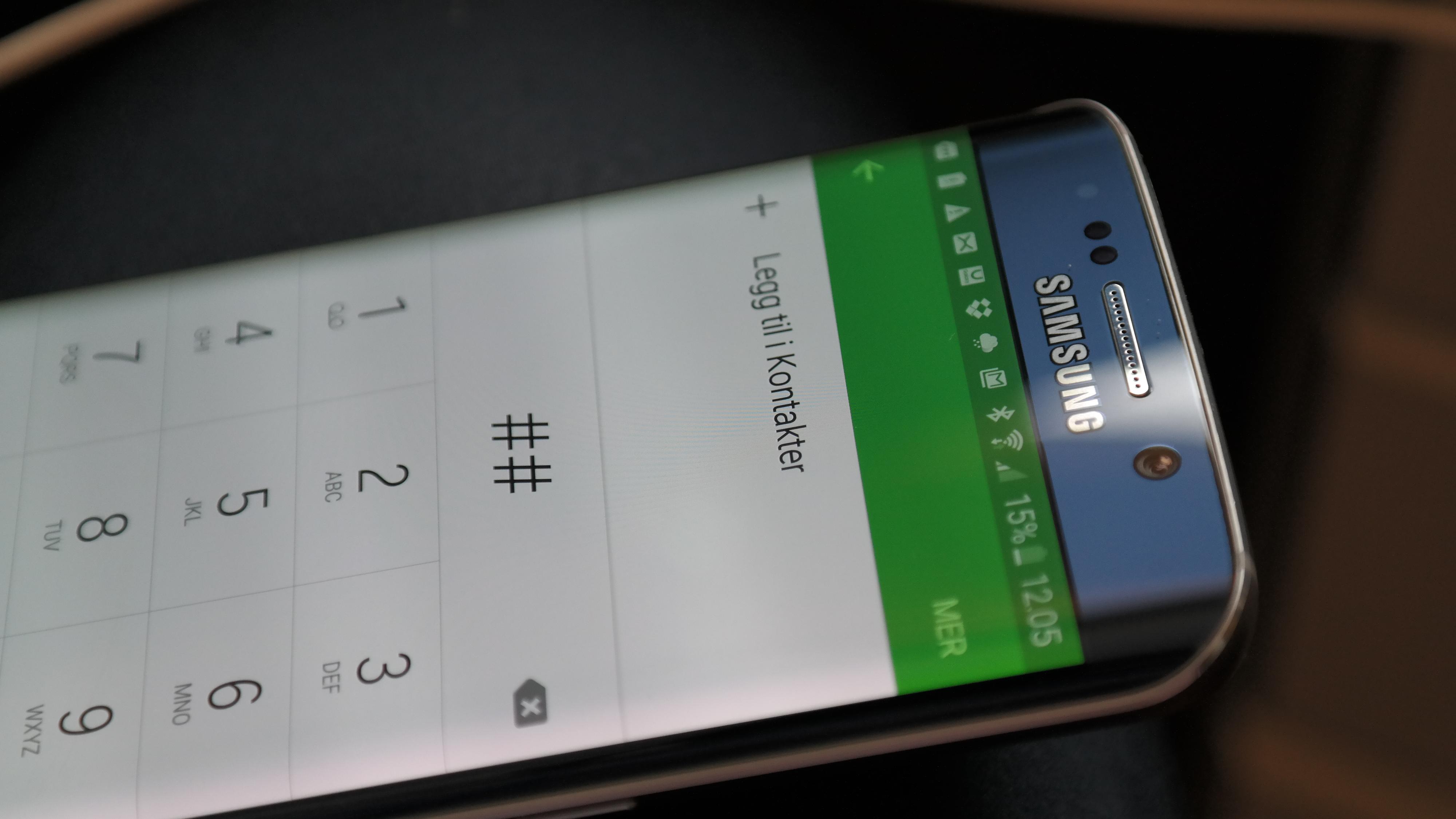 Med sin buede skjerm blir Galaxy S6 Edge lagt merke til. Foto: Espen Irwing Swang, Tek.no