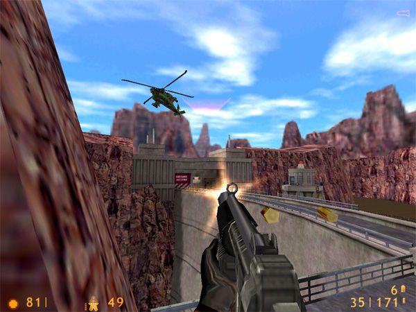 Half-Life, lansert i 1998, ble bygd på en tungt modifisert versjon av Quake-grafikkmotoren.