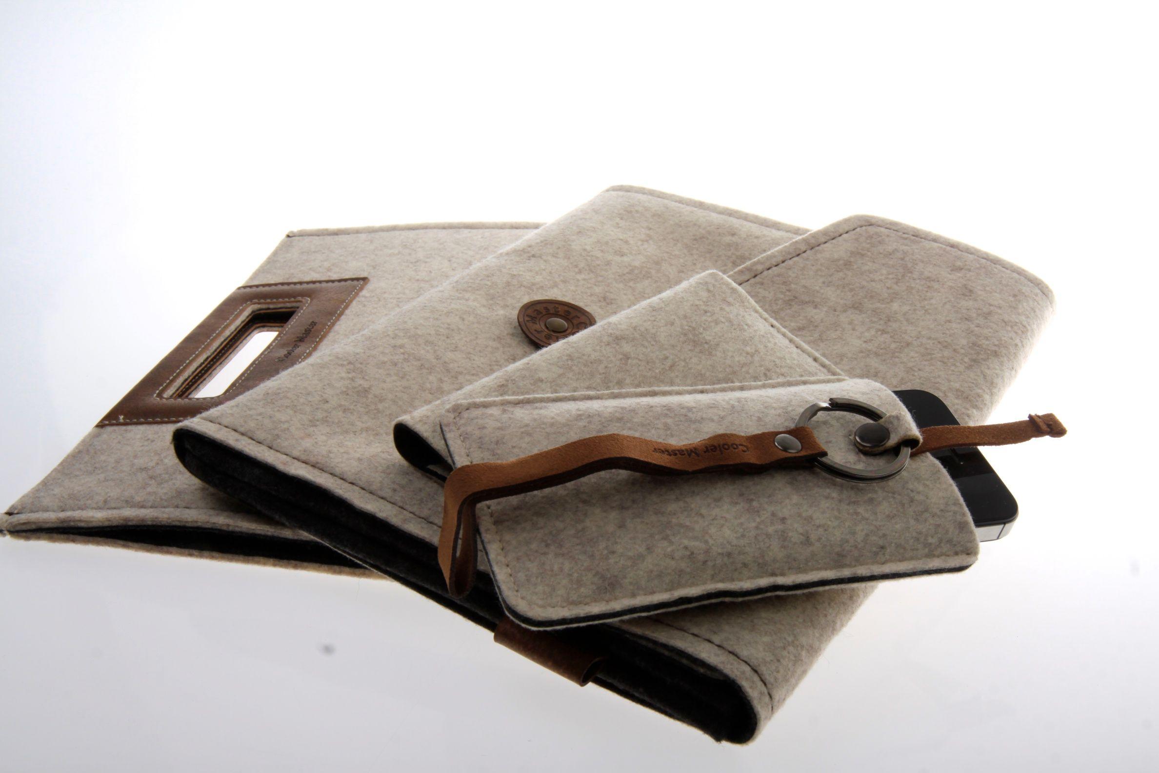 Cooler Master Elegance Collection. Fra venstre: Afrino Folio, Cormo Sleeve, Exmoor Folio og Dorset Pouch.Foto: Kurt Lekanger, Amobil.no