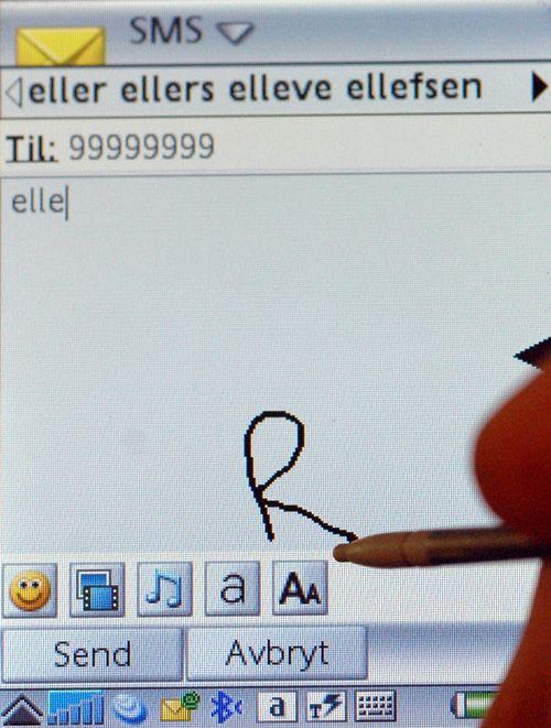 Med trykkfølsom skjerm kan du skrive med håndskrift rett på skjermen.