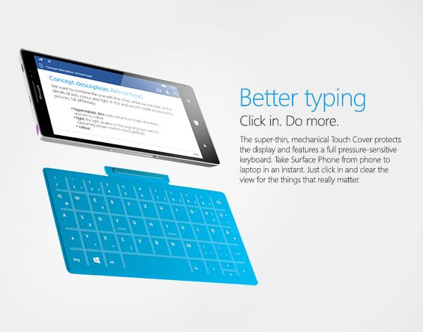 Konseptbilde. Slik ser en konseptartist for seg at et tastatur kan festes til telefonen.