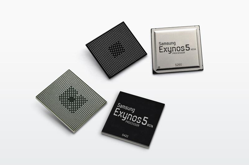 Samsung Exynos 5 Octa 5422 og Exynos 5 Hexa 5260.Foto: Samsung