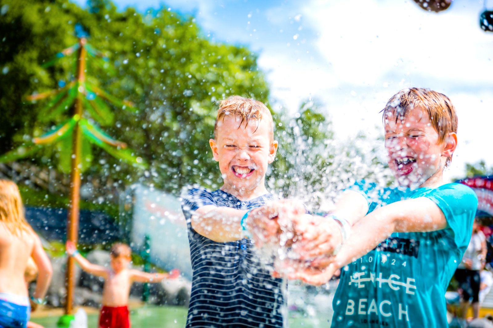 Vann-vittig moro: Den nye vannlek-parken i Kongeparken.