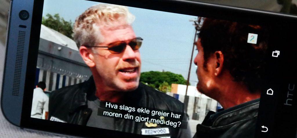 Skjermdump fra TV2 Sumo på HTC One (M8).