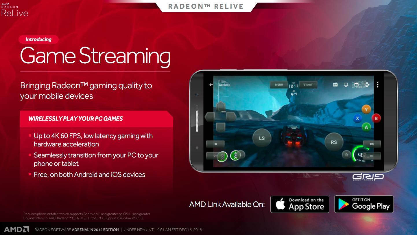 AMD Link-appen på mobil får støtte for streaming av spill fra PC.