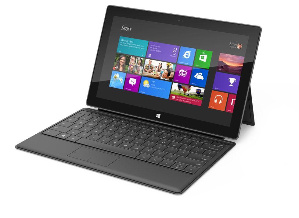 Selve nettbrettet er sort, men tastaturet får du en rekke farger.Foto: Microsoft