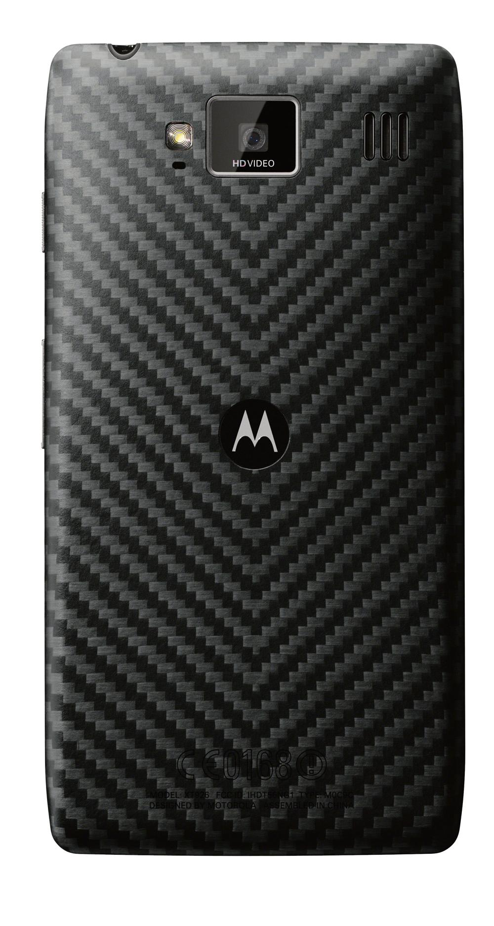 Baksiden av Motorola Razr HD er laget i kevlar.Foto: Motorola