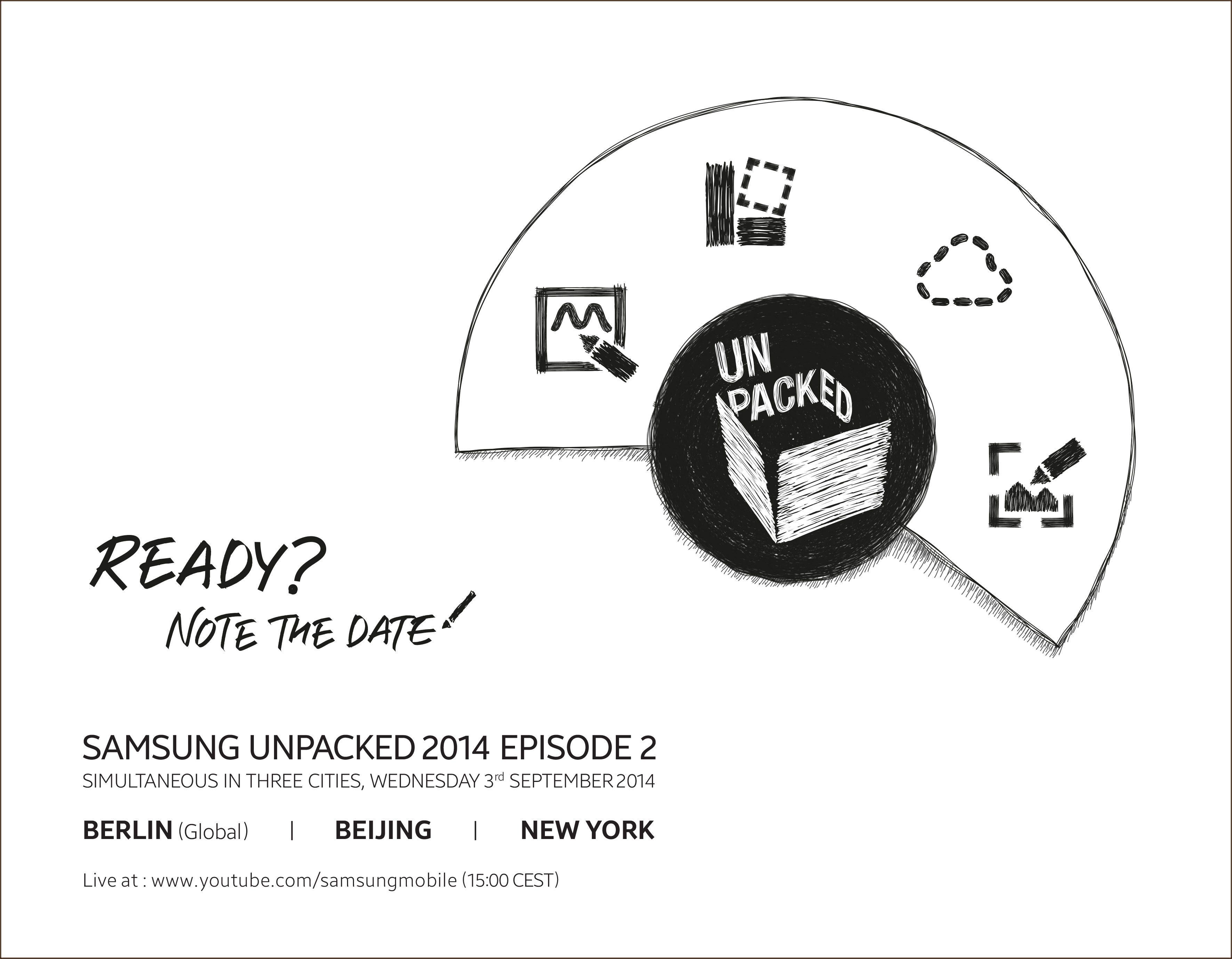 Slik ser invitasjonen til årets andre Unpacked-arrangement ut. Den levner liten tvil om hvilken telefon som blir stjernen i showet.Foto: Samsung