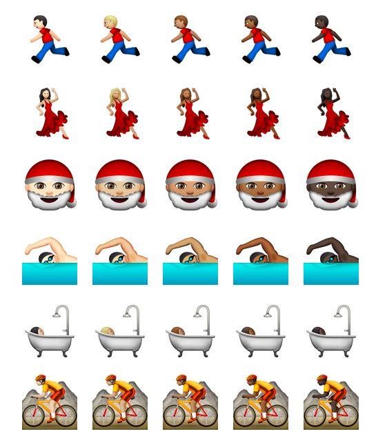 Flere av ikonene kommer heretter i fem fargenyanser. (Foto: Unicode)