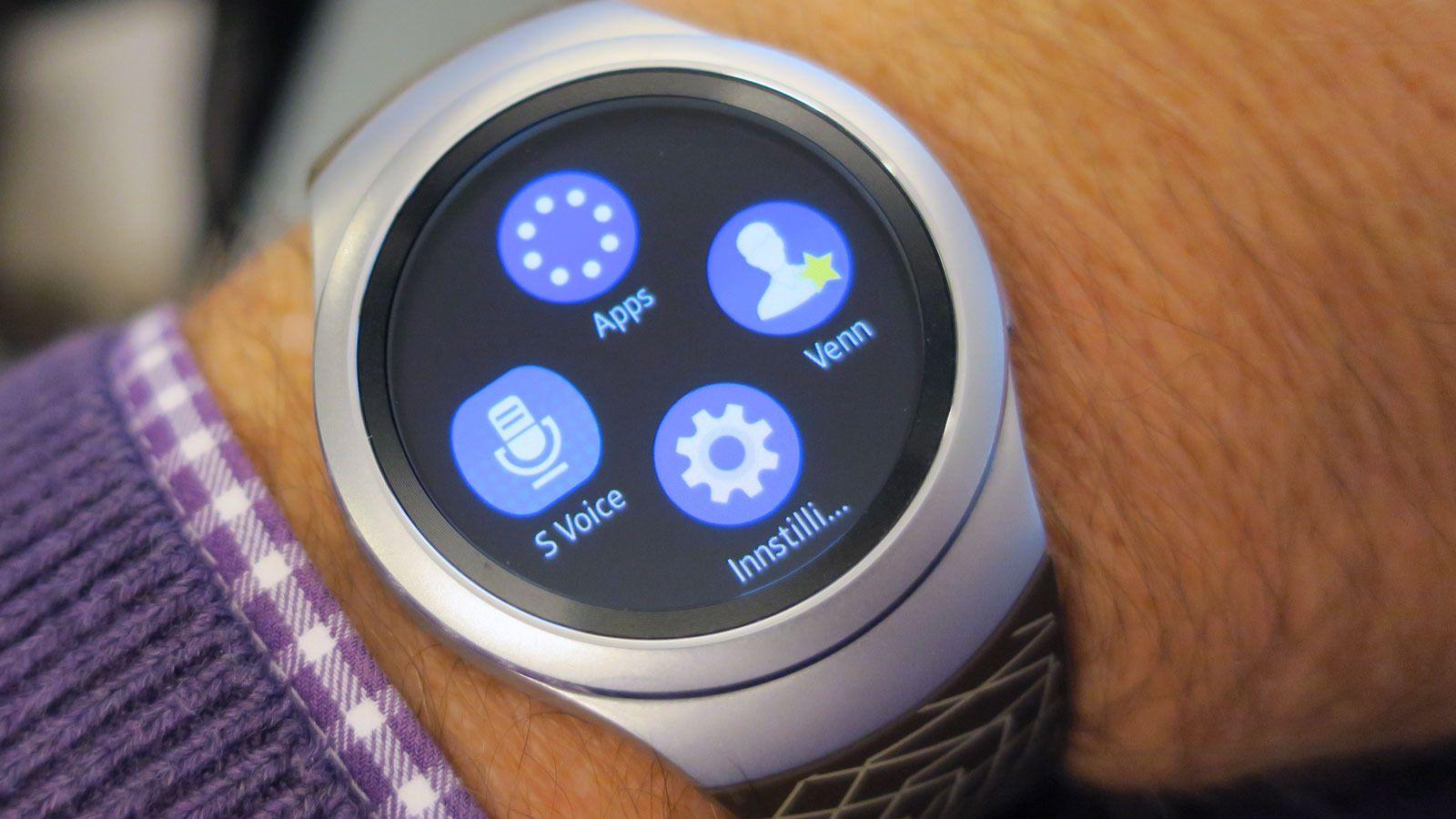 Samsung Galaxy Gear S2 har enkle og funksjonelle menyer. Foto: Espen Irwing Swang, Tek.no