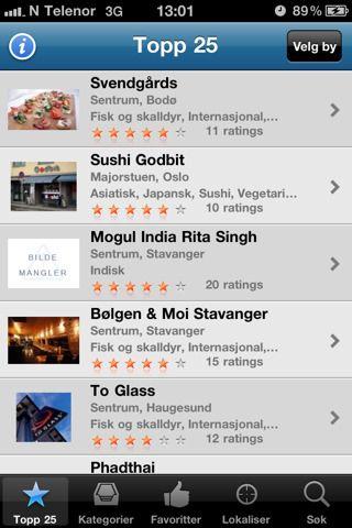 Restauranter - til iPhone.
