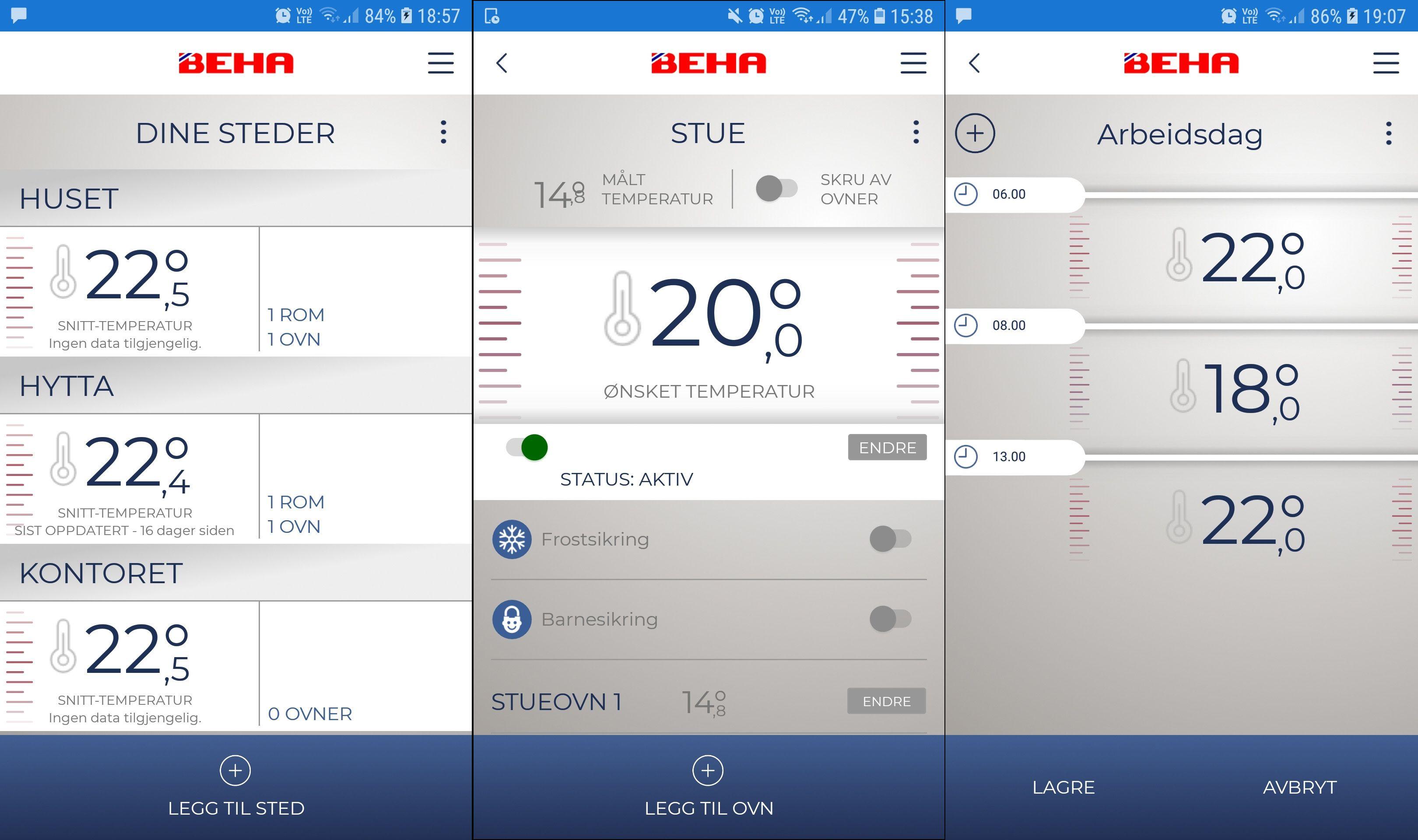 Behas app har mange funksjoner, men det er ikke alltid like lett å oppnå det man vil.