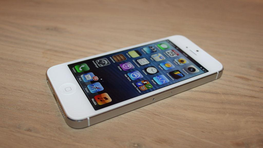iPhone-5-startskjerm. Foto: Espen Irwing Swang, Amobil.no