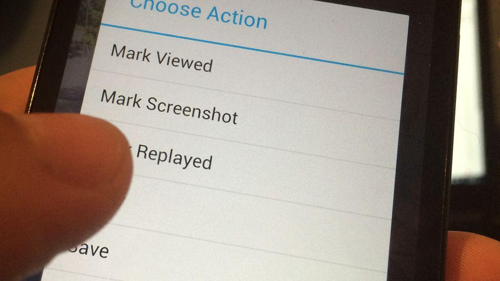 Dette er menyen i Android-appen SaveMySnaps.Foto: V. Haugen, Teknofil.no
