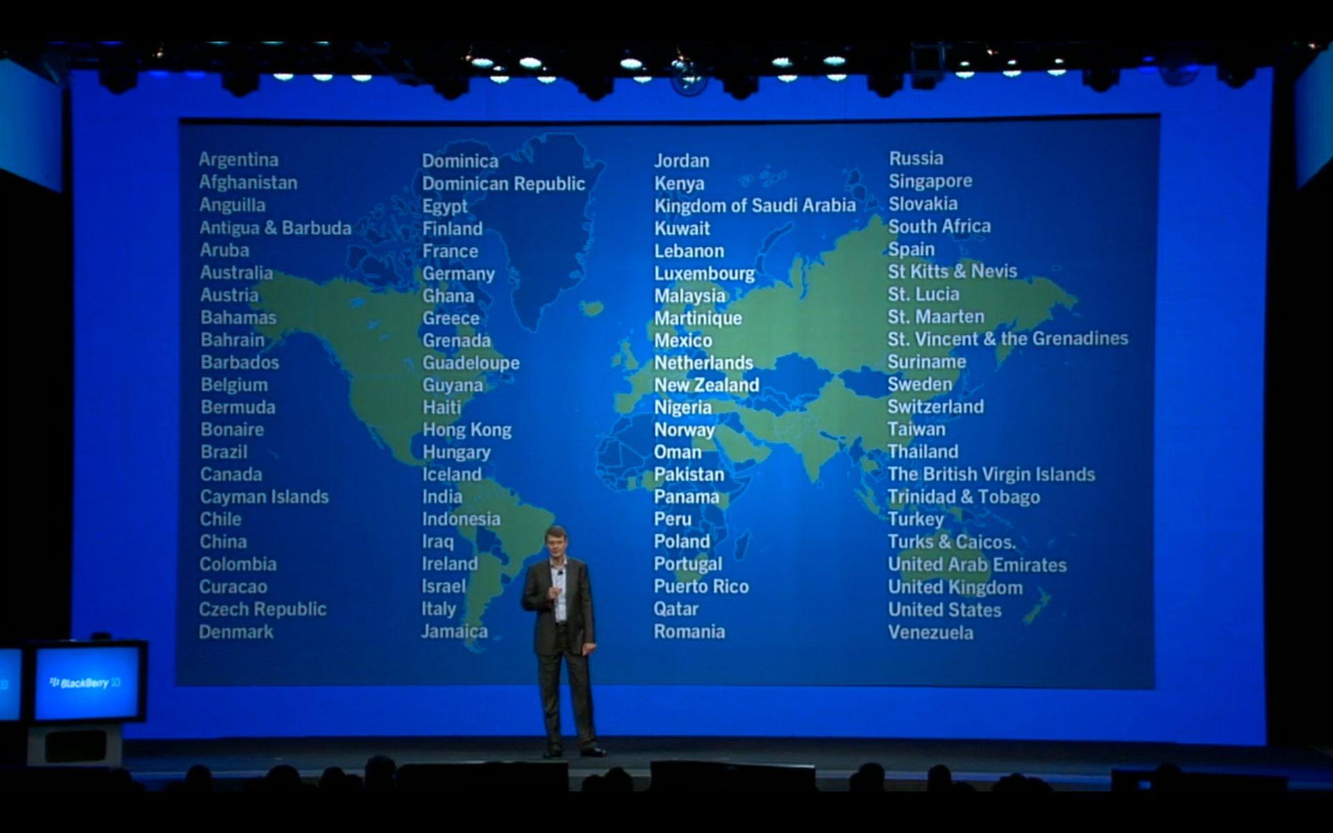 BlackBerry 10 kommer til store deler av verden, inkludert Norge.