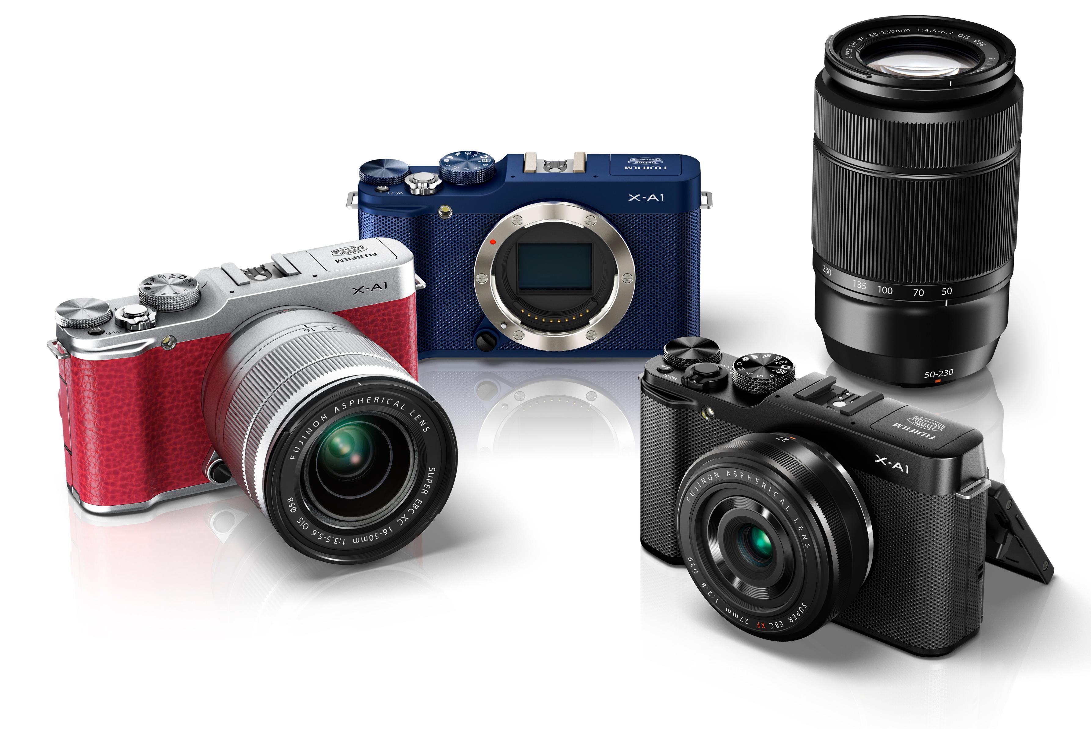 Her er variantene av det nye kameraet.Foto: Fujifilm