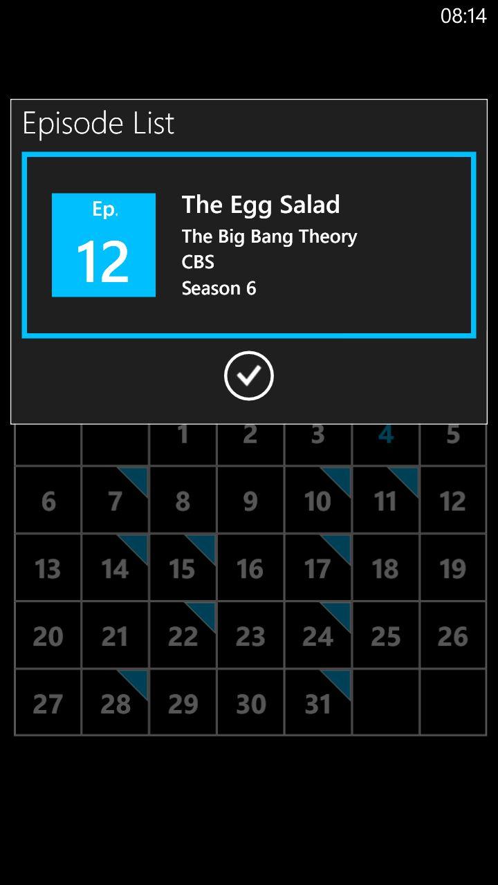 Kalenderen er hele poenget med Televisionary, Kanskje burde vi fått flere visningsalternativer?