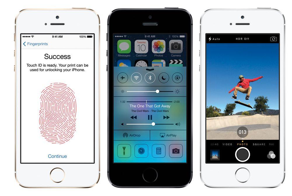 iPhone 5S får bedre kamera, fingeravtrykksleser, samt raskere prosessor. Foto: Apple