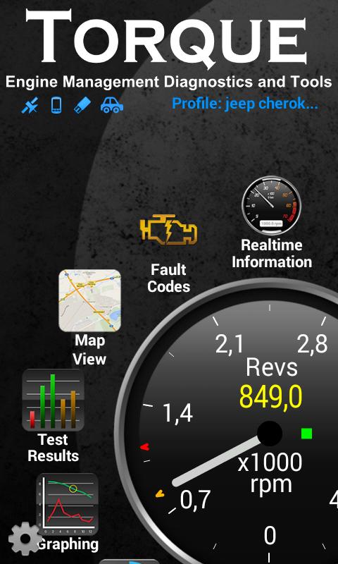 Torque-applikasjonen er oversiktlig og grei. Det finnes også mange andre lignende apper. Søk for eksempel i programvareportalen på mobilen din etter OBD2 eller OBD-II.