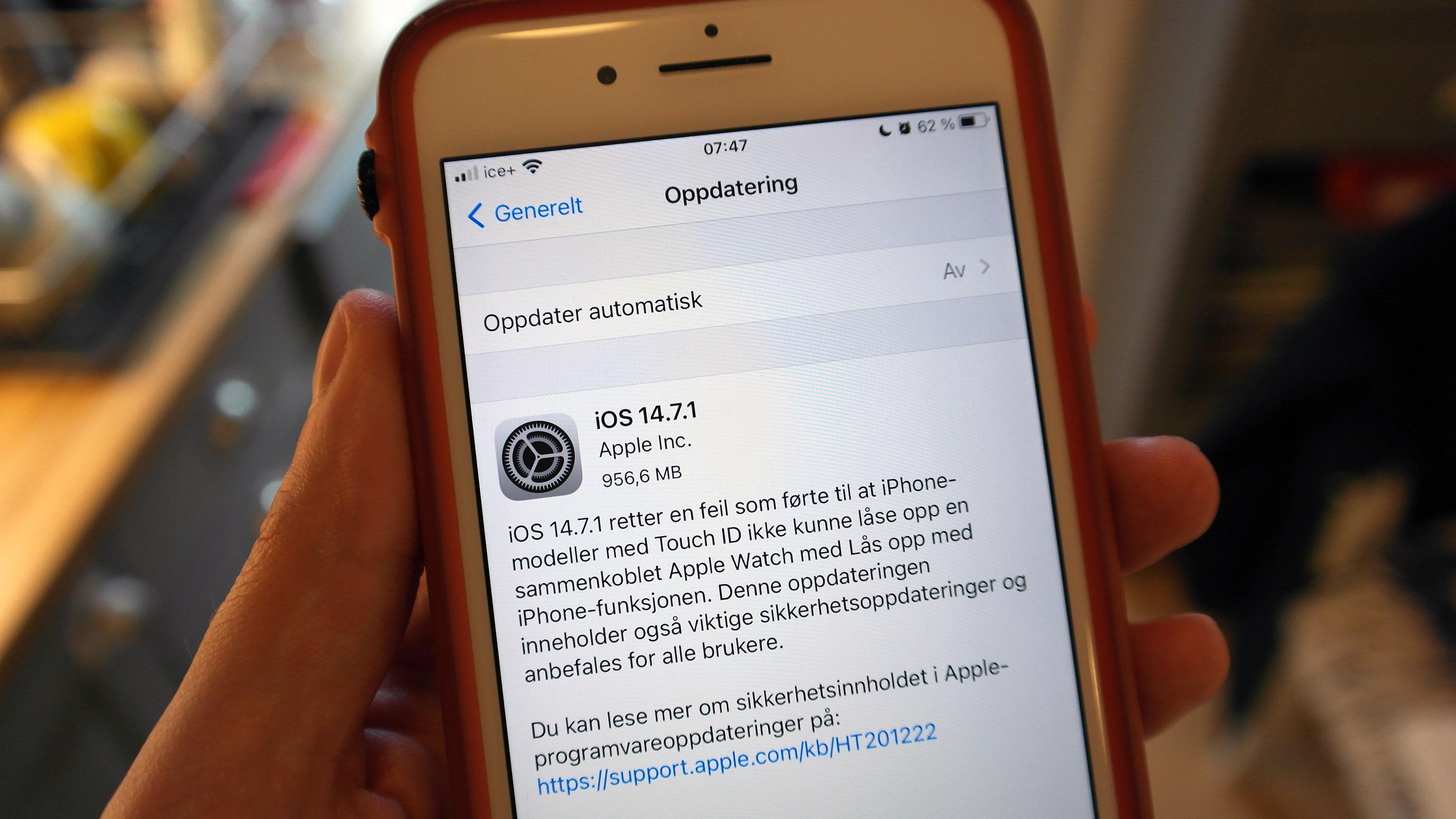 Apple tetter iPhone-hull som blir «aktivt utnyttet»