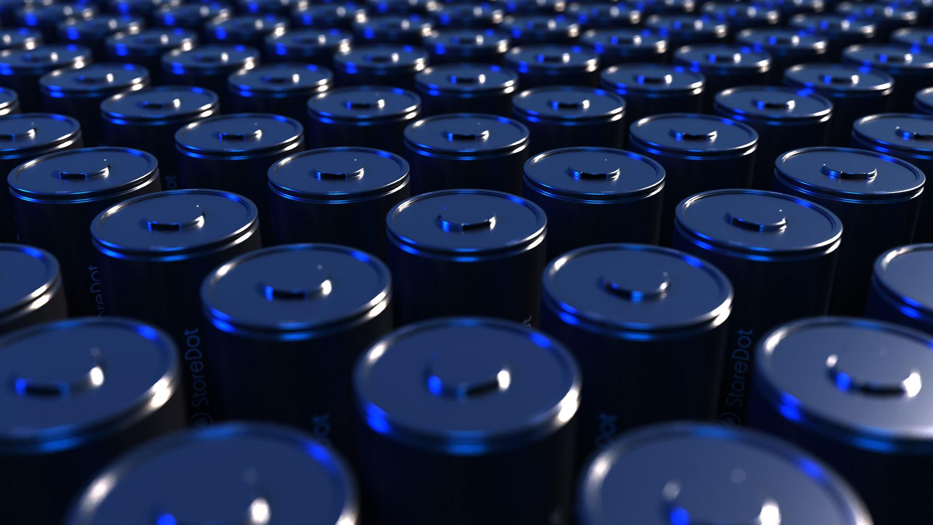 Bildet skal vise 4680-batterier fra StoreDot.