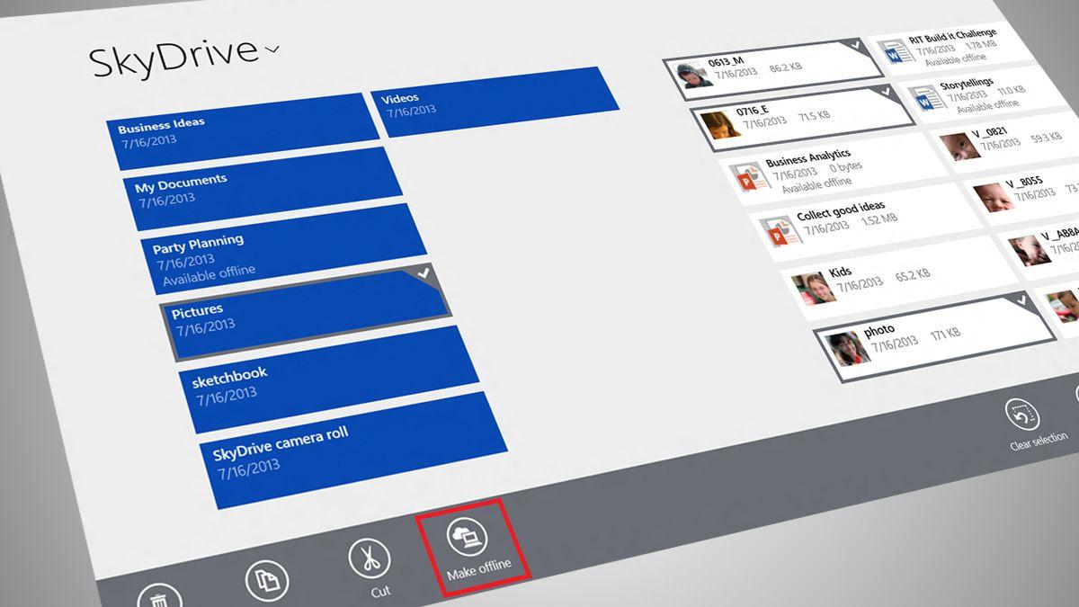 SkyDrive får offline-modus