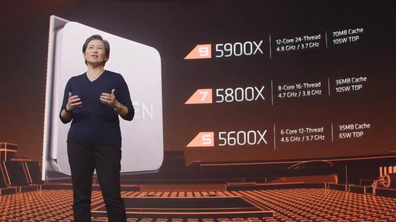 AMD-sjef Dr. Lisa Su presenterte selskapets nye prosessorer.