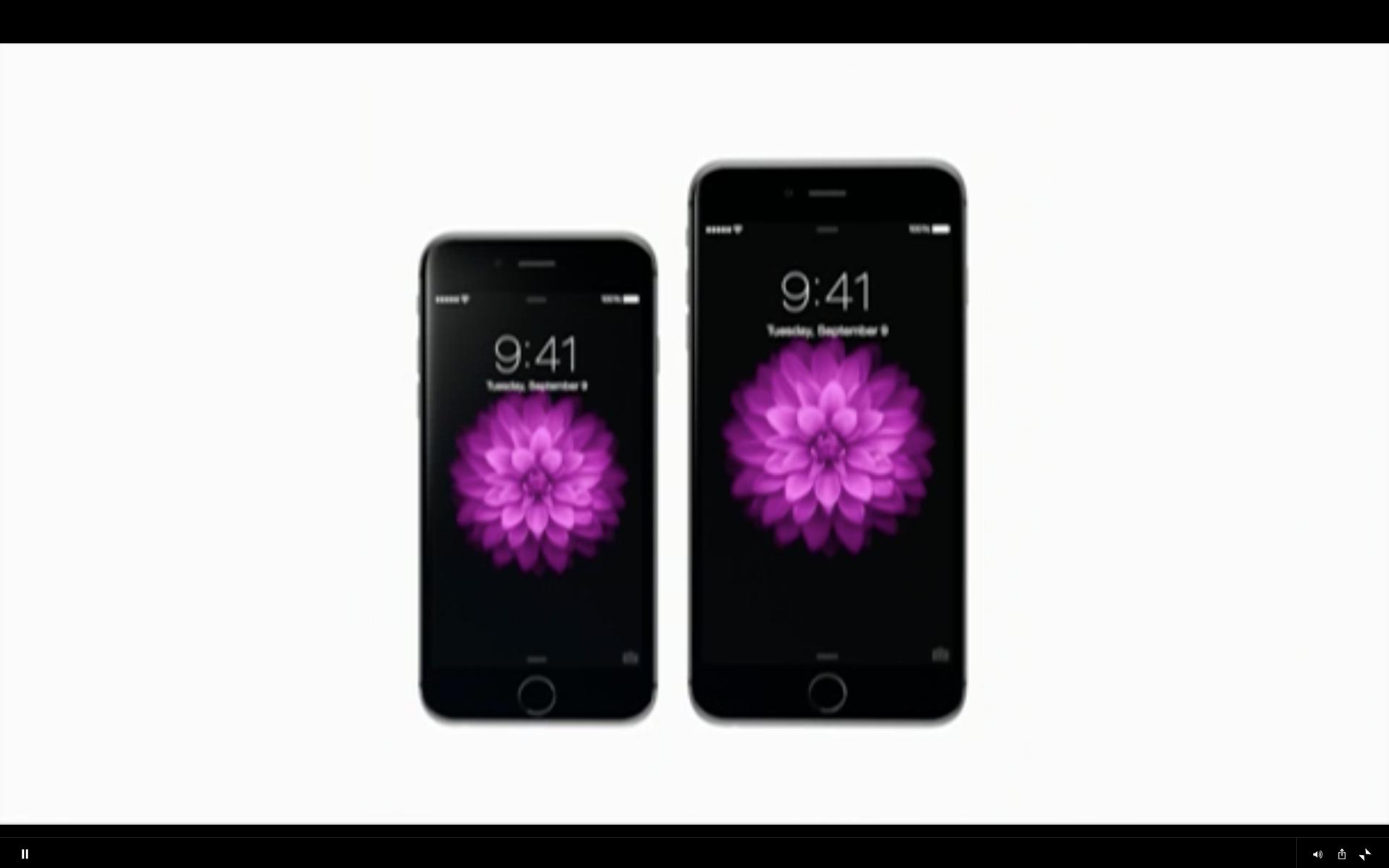 Slik ser de to nye modellene ut - iPhone 6 og iPhone 6 Plus.