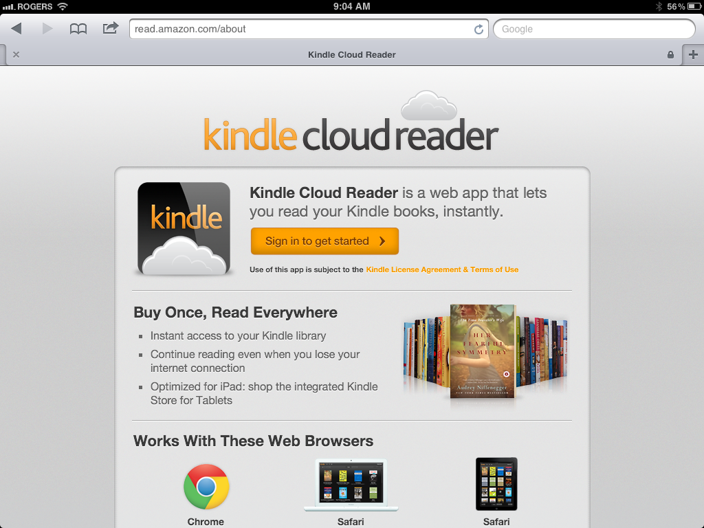 Kindle Cloud Reader fra Amazon er en av dagens mest kjente web-apper.