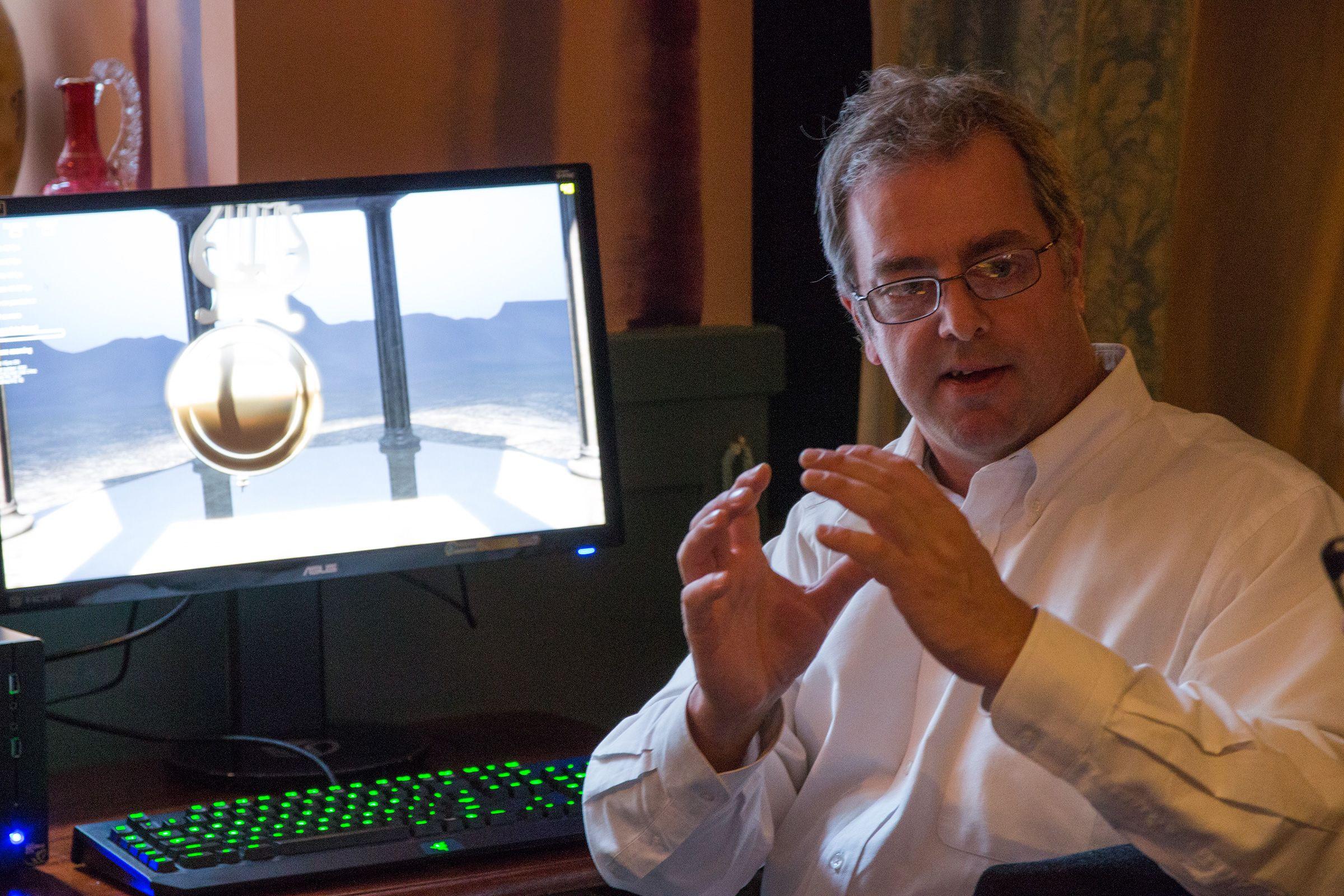 Tom Petersen, Nvidias tekniske markedssjef, forklarer hvordan selskapet har arbeidet med Maxwell.Foto: Varg Aamo, Hardware.no