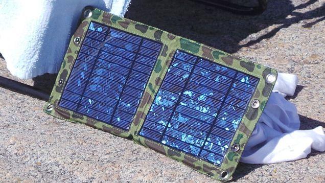 Lad mobilbatteriene med lys