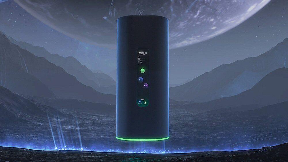 AmpliFi Alien er mørk, mystisk og utstyrt med skjerm.