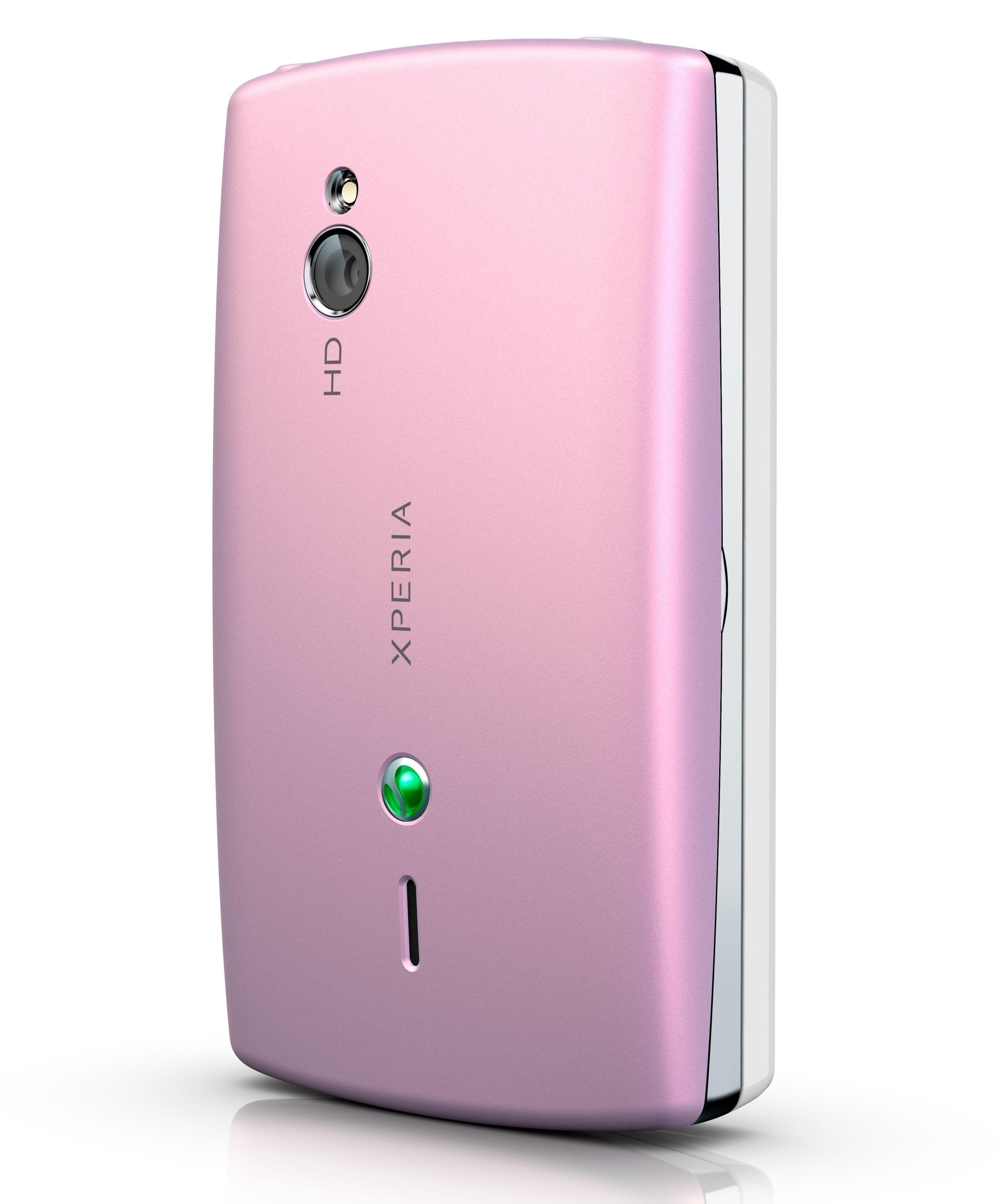 Du kan få Xperia mini pro med rosa bakdeksel. Heldigvis finnes den også med svart og hvitt bakdeksel.