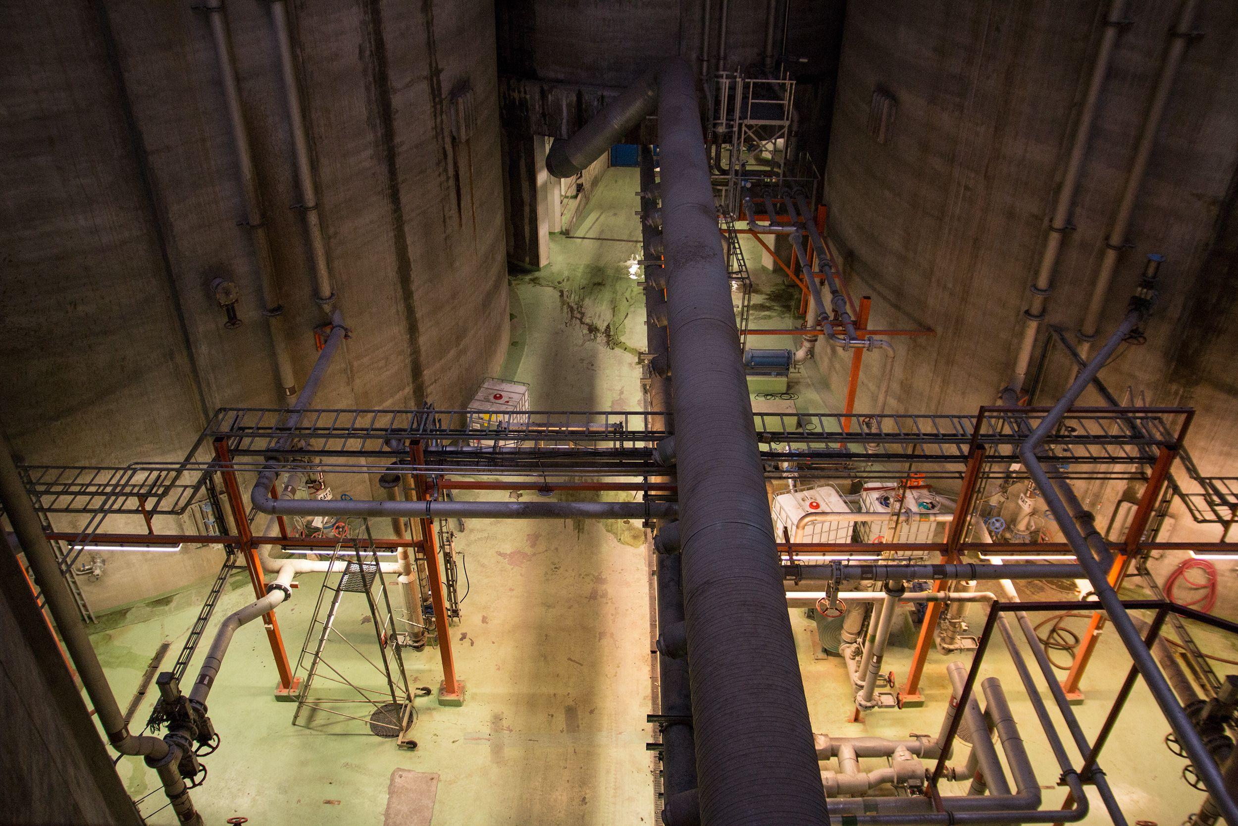 Fra biogassanlegget.