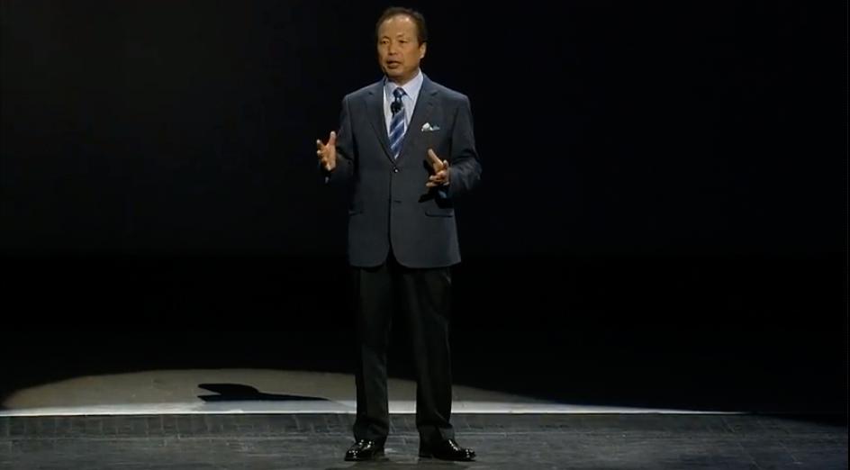 Samsungs toppsjef JK Shin.