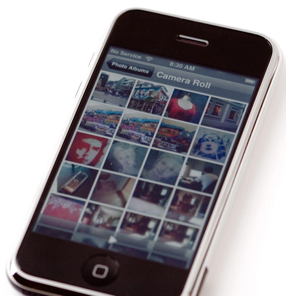 Særlig fotoalbumet imponerte i Apple Iphone.Foto: Amobil.no