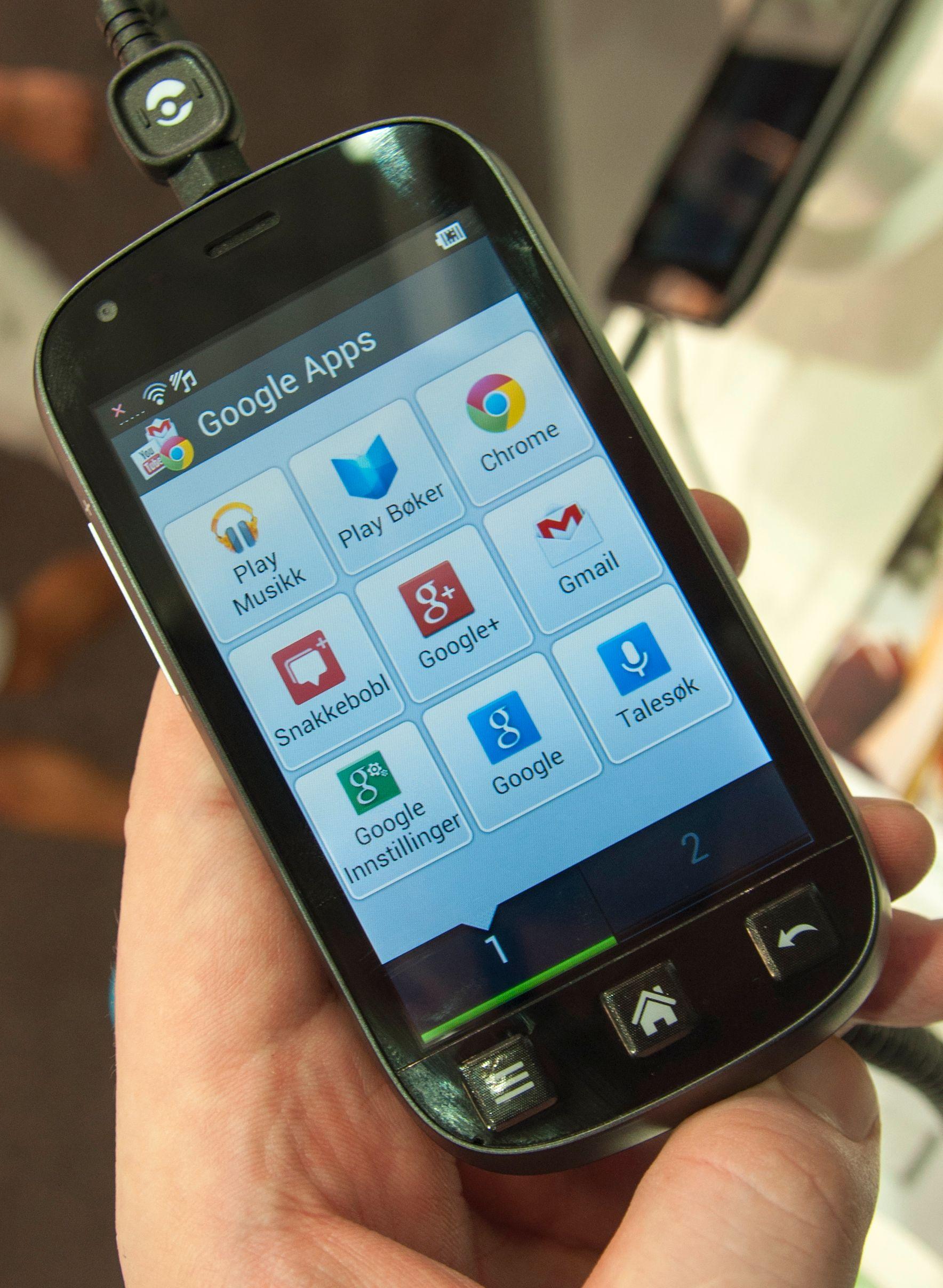 Menyene på Liberto 810 legger seg langt unna Androids standardmenyer. Dette er app-menyen.Foto: Finn Jarle Kvalheim, Amobil.no