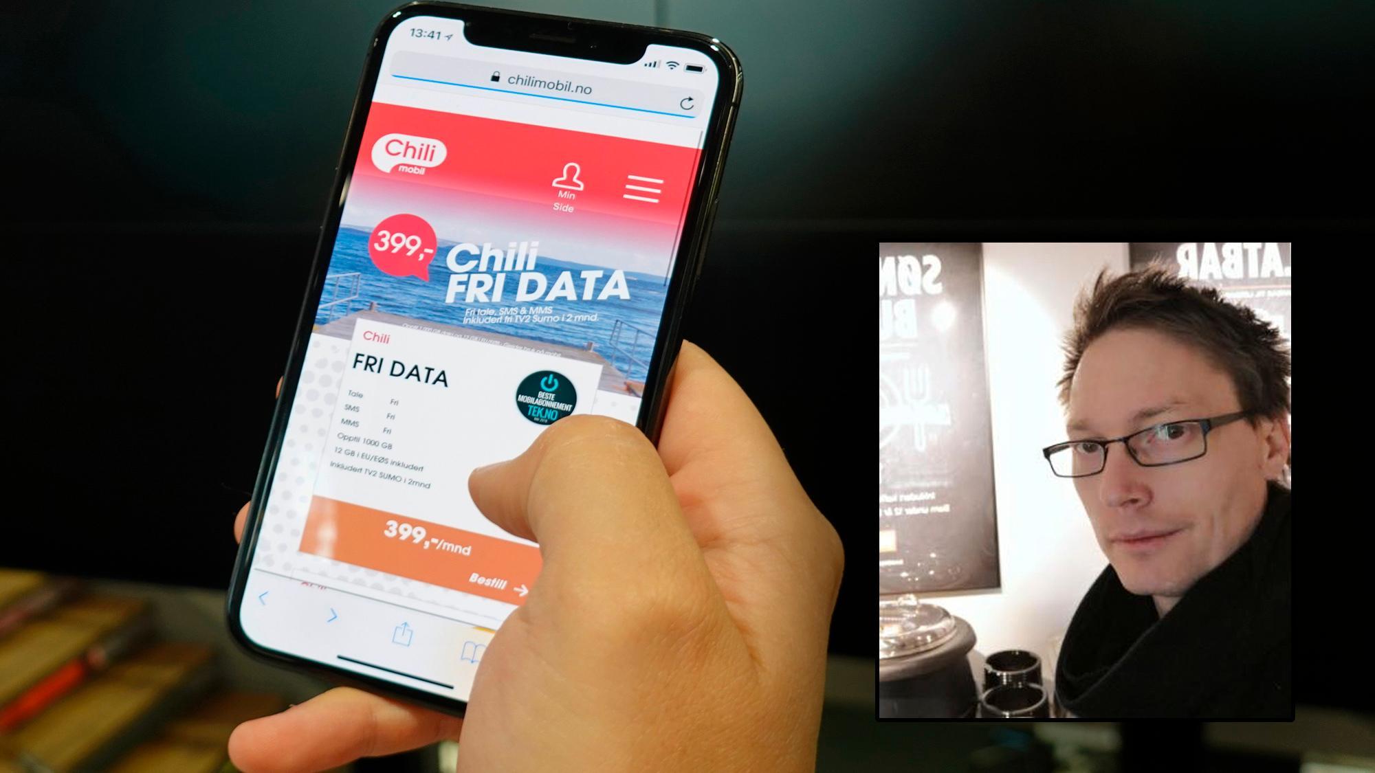 Chilimobil tvinger kunder vekk fra Fri Data. – Et ekstremt forbruk, sier Chili-sjefen